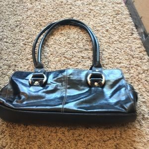 Other - Black leather baguette purse